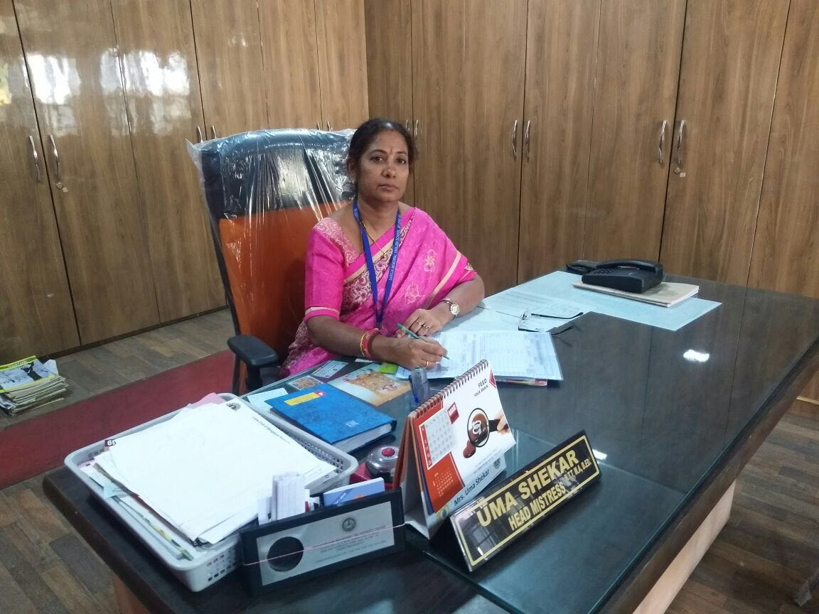 saroja memorial school head mistress